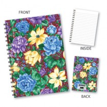 Purple Floral Wiro Notebook