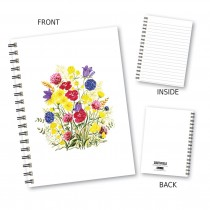 Bright Floral Wiro Notebook
