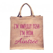 Awfully Posh From Natural Jute Shopper+Tag