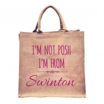 I'm Not Posh Natural Jute +Tag (pink)