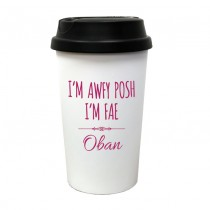 Awfy Posh Travel Mug (pink)