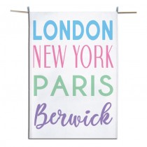 London NY Pastel Tea Towel