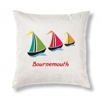 Sail Boat Cushion & Inner+Tag