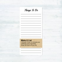 Things to Do Pad