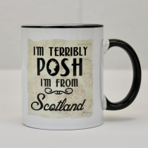 Queen Posh Black Handled Mug