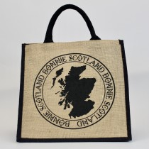Bonnie Map Jute Shopper