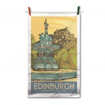 Vintage Sketch Town Tea Towel