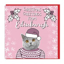 Personalise- Textured Pastel Cat Card