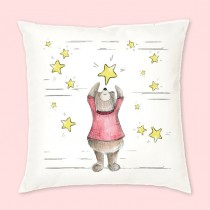 Falling Star Velvet Cushion