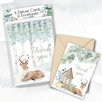 Deluxe Winter Watercolor Thank you's (6)