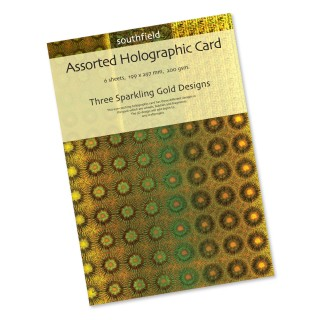 Gold Holographic Card 6 Sheets product image