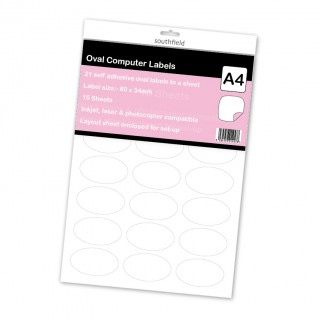 Labels 21 to a Sheet Oval 15 S product image