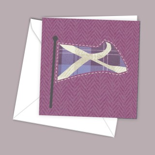 Pink Flag Greeting Card product image