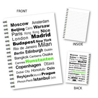 City Words Wiro Notebook product image