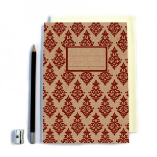 Maroon Patterned Notebook product image