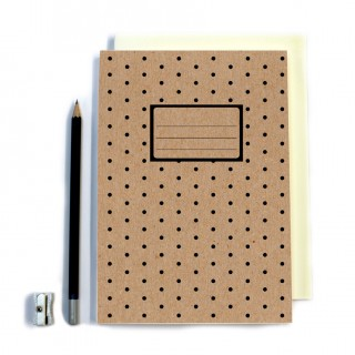Polka Dot Stitched Notebook- A5 product image