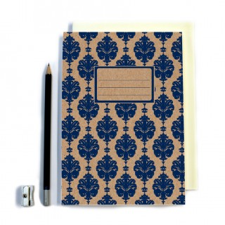 Navy Patterned Notebook product image