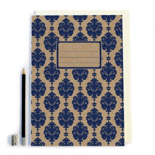 Navy Patterned Notbook product image