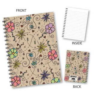 Coloured Floral Wiro Notebook product image