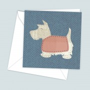 Scottie Blue Greeting Card