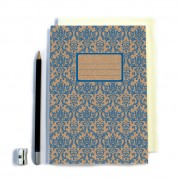 Blue Patterned Notebook
