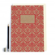 Red Retro Pattern Notebook