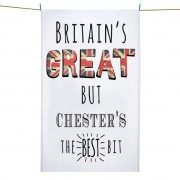 Britains Great Printed Tea Towel+Tag