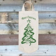 Cotton Bottle Bag-Green Tree