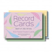 Ruled Coloured Record Cards 6x4