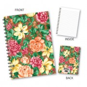 Orange Floral Wiro Notebook