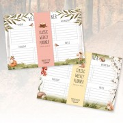 Desk Planner-Forest Animals