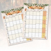 2 Page Year Planner-Forest Animals